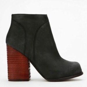 Jeffrey Campbell Hanger Leather black booties